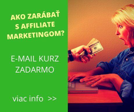 Ako zarábať affiliate marketingom? Online kurz