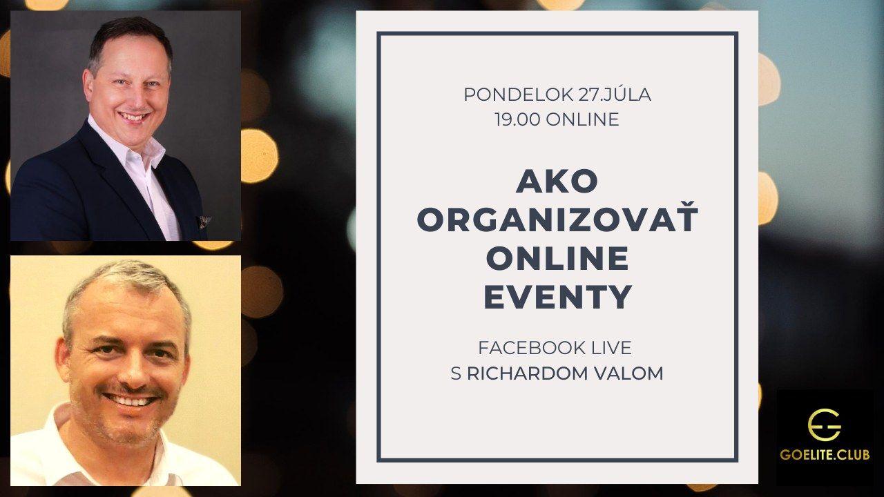 Ako organizovať online eventy