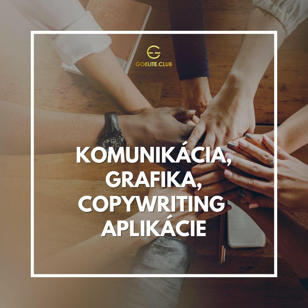 Komunikácia, grafika, copywriting aplikácie