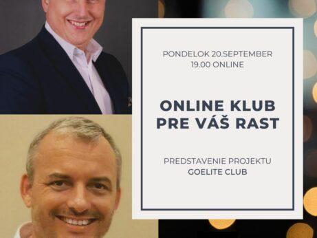 Online klub pre vás rast