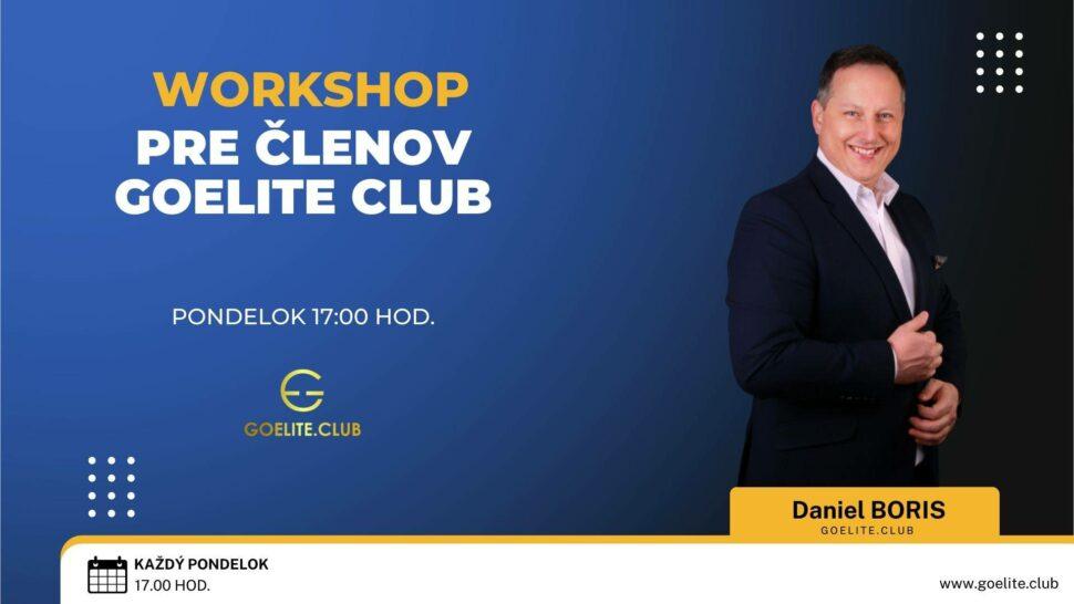 Workshop GoElite clubu